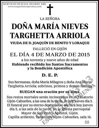 María Nieves Targhetta Arriola